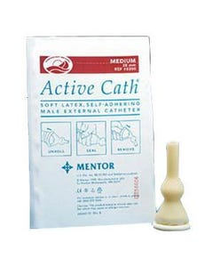 Active Cath Latex Self-Adhering Male External Catheter with Watertight Adhesive Seal,