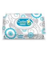 Cuties Quilted Baby Wipes Soft Pack– Sensitive/Unscented